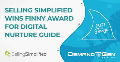 """Digital nurture guide """"COVID Killed the Cold Call"""" wins Finny Award for Selling Simplified at the 2021 Killer Content Awards."""